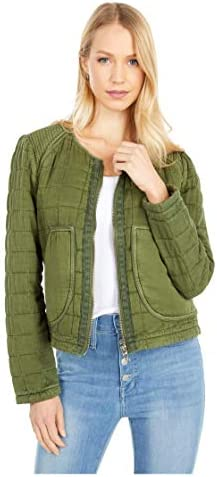 [BLANKNYC] womens [Blanknyc] Collarless Quilted Jacket