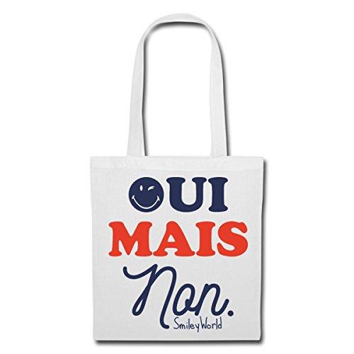 French Mais Oui Non Quote World Spreadshirt White Tote Bag Smiley vqXax6nWtp