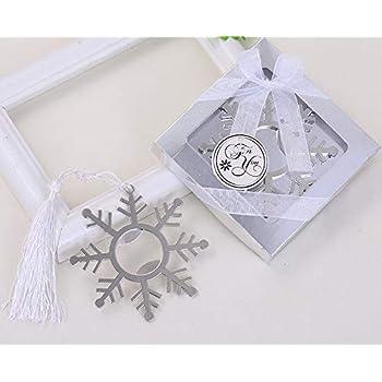 Amazon.com  100pcs Silver Snowflake Bottle Opener For Wedding Party ... 667d2f9bd21a