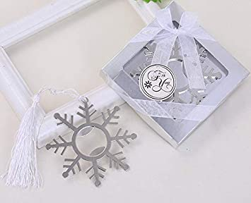 Yuokwer 24pcs Snowflake Bottle Opener Wedding Favors Party Gift for Guests, Silver Metal Bottle Opener Baby Shower Favors Gift Party Souvenir Decorations Supplies 24 pcsSnowflake