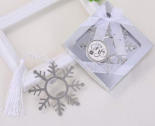 Yuokwer Pack of 12 Snowflake Silver Metal Bottle Opener Wedding Favors Party Gift for Guests,Baby Shower Favors Gift & Party Decorations Supplies (Snowflake)]()
