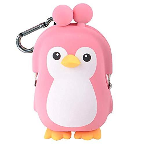 p+g Design 3D Pochi Friends Penguin silicone coin purse Pink