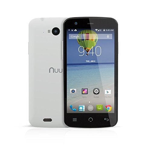NUU Mobile X3 4.5' qHD LTE 8GB Unlocked GSM Dual-SIM Smartphone with 2-Year Ltd Warranty