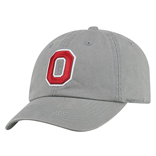 Top of the World NCAA Mens College Town Crew Adjustable Cotton Crew Hat Cap (Ohio State Buckeyes-Gray with Block O, Adjustable)