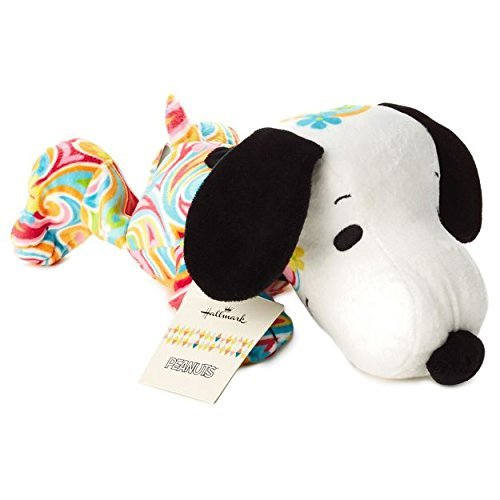 Hallmark Peanuts Flower Power Snoopy Stuffed Animal PAJ1181