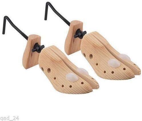 Surepromise Lot de 2 embauchoirs élargisseurs ajustables en bois pour chaussures mixtes avec des boutons pour oignons Tailles du 39 au 44