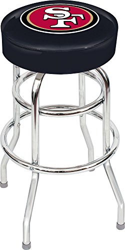 Imperial Officially Licensed NFL Furniture: Swivel Seat Bar Stool, San Francisco 49ers