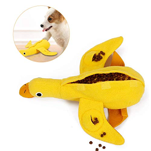 NAGUGU Squeaky Duck Dog Toys Cute Treat Puzzle Dog Toy Plush Chew Toys for Puppy Small Medium Large Dogs