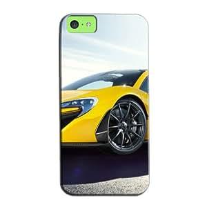 TPU White For Iphone 5c 2014 McLaren P1 Supercar Protective Hard Case