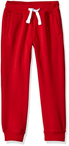 Southpole Little Boys' Active Basic Jogger Fleece Pants, Red, X-Large