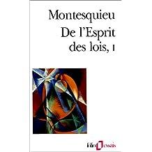 DE L'ESPRIT DES LOIS T01