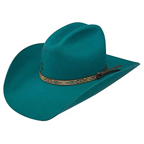 Charlie 1 Horse ''Teal With It'' Ladies Felt Cowboy Hat (7) by Charlie 1 Horse