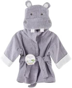 Baby Aspen, Hug-alot-amus Hooded Hippo Robe, Purple, 0-6 Months