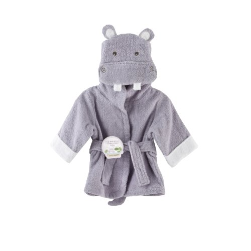 Baby Aspen, Hug-alot-amus Hooded Hippo Robe, Purple, 0-6 Months