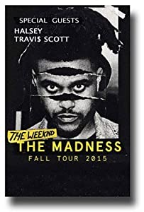 The Weeknd Poster -Admat Promo Flyer for 2015 Beauty Behind the Madness Tour