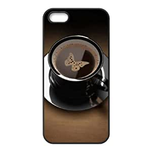 Coffee Art Brand New Cover Case with Hard Shell Protection for Iphone 5,5S Case lxa#410158