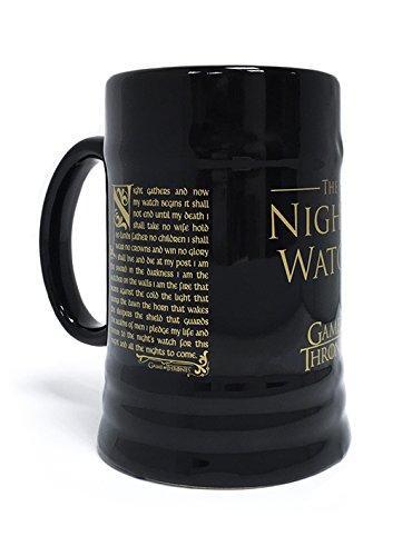 Official Licensed Game Of Thrones Night's Watch Oath Black Ceramic Beer (Licensed Black Steins)