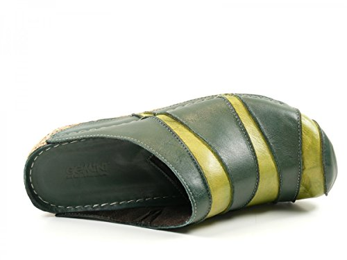 Gemini Mujeres Zapatos abiertos verde, (grün-kombi) 032091-770 Grün