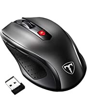 VicTsing Wireless Mouse Ergonomic Mice with [Nano Receiver] [5 Adjustable DPI Levels] [6 Buttons] for Computer Laptop Mac (Black)