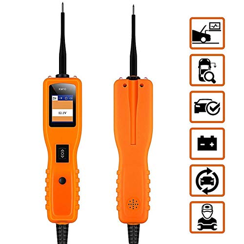 KM10 Automotive Circuit Tester Power Probe Kit Diagnostic Test Tool Vehicle Voltage Signal Diagnostic/Components Activated/Continuity Short Testing for 12-24V Auto Electrical System by Quicklynks (Image #1)