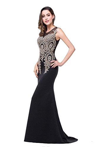 Women with Crystals s Gowns Red Embroidery Evening s Bridal Gold Annie Sleeveless zEBqcw
