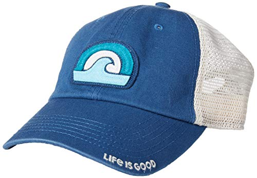 - Life is Good Unisex Trucker Hat with Soft Mesh Ballcap, Vintage Blue, OS