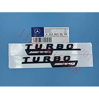 "Gloss Black /"" S /"" Letters Trunk Embl Badge Sticker for Mercedes Benz C63 E63"