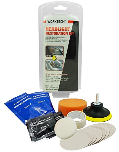 WORKTECH WT300 Adhesives and Sealants Professional Headlight Restoration Kit with Drill Kit