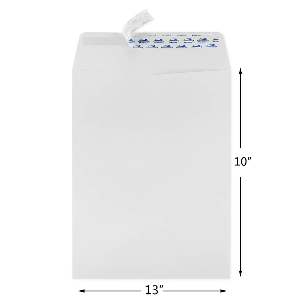 Organizing and Storage ValBox 10x13 Self Seal Security Catalog Envelopes 150 Packs Large White Envelopes with Peel and Seal Flap for Mailing