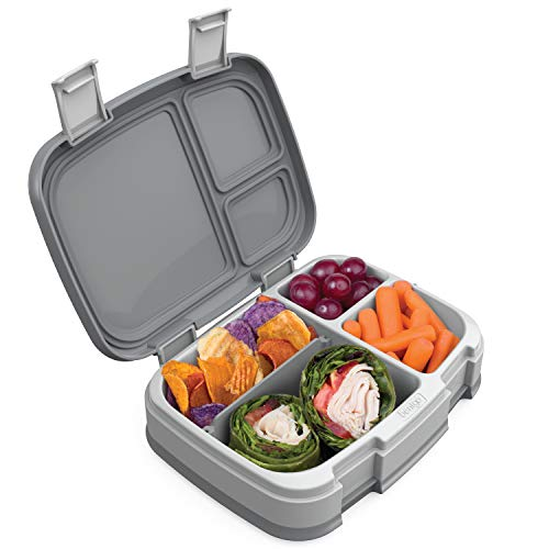 (Bentgo Fresh (Gray) - New & Improved Leak-Proof, Versatile 4-Compartment Bento-Style Lunch Box - Ideal for Portion-Control and Balanced Eating On-The-Go - BPA-Free and Food-Safe Materials)