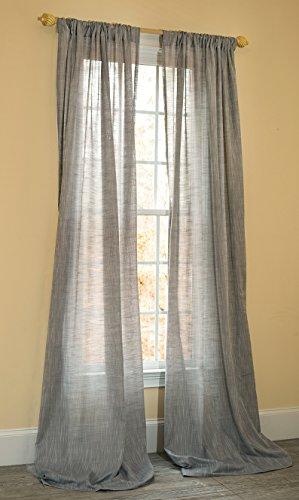 (Manor Luxe Essex Sheer Rod Pocket Window Curtain,Single Panel, 52 x 120)