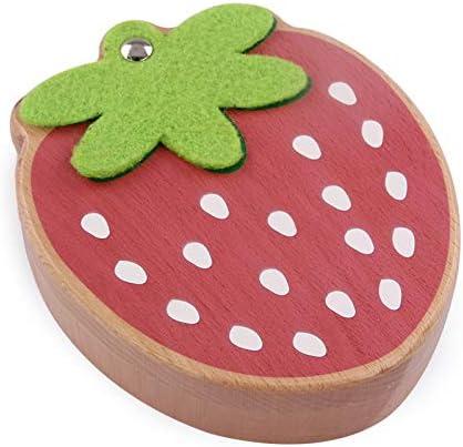 Caja de dientes de madera para bebé, con forma de fresa, para guardar los dientes principales: Amazon.es: Bebé