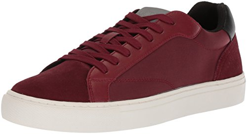 Guess Men Baez Sneaker, Red Synthetic Red synthetic