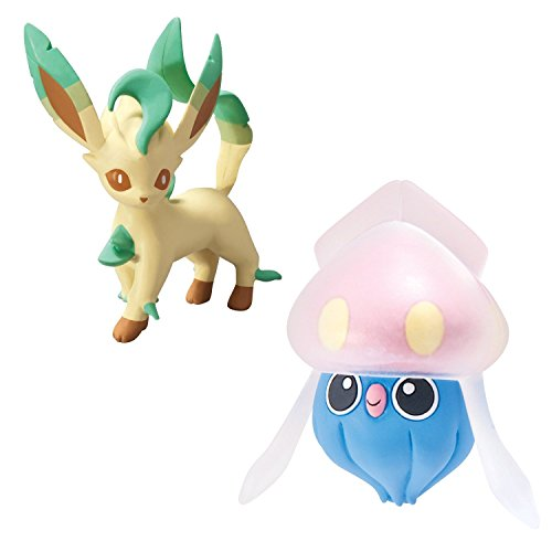 [Pokémon 2 Pack Small Figures Inkay vs Leafeon] (Pokemon X And Y Ash Costume)