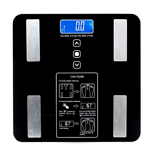 BF1606-B 180kg/100g Digital Body Fat Scale Health Analyser Fat Muscle BMI Black by fikole (Image #7)