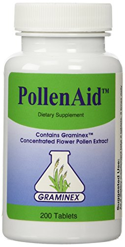 PollenAid Clinical Dosage of Graminex G63 Flower Pollen Extract - Full Spectrum Supplement for Prostate, Liver, Menopausal, and UTI Issues Among Others, 200 Tablets