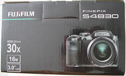 Fujifilm - FinePix S4830 16.0-Megapixel Digital Camera - Black (Bundle)