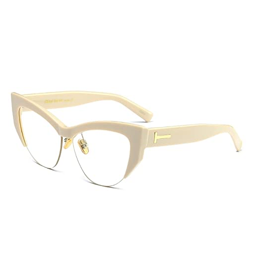 c33c3fa5a01 Image Unavailable. Image not available for. Color  Fuyingda Cateye  Sunglasses ...