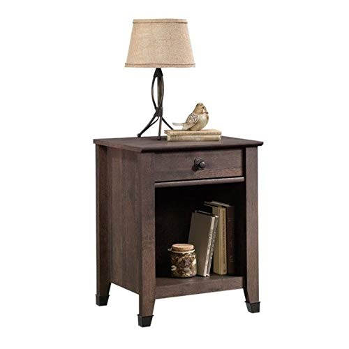 Sauder Carson Forge Night Stand, Coffee Oak finish (Coffe Table Stand)