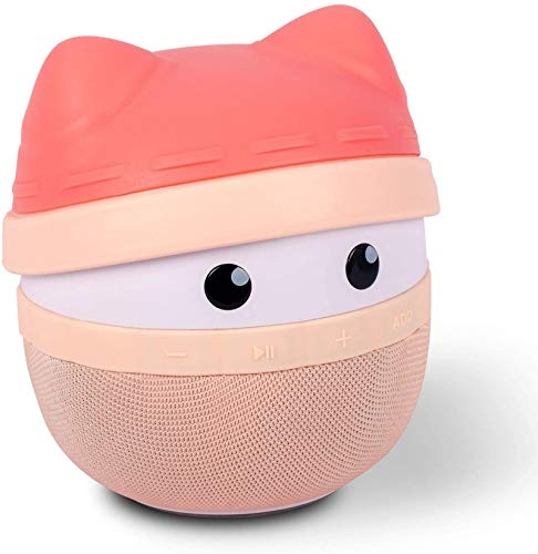 Portable Bluetooth Speaker Asimom Rhyme Stereo Pairing Speaker 15h Playing High Definition Sound Cute Wireless Speaker Ideal Gift For Girls And Kids Lotus Pink