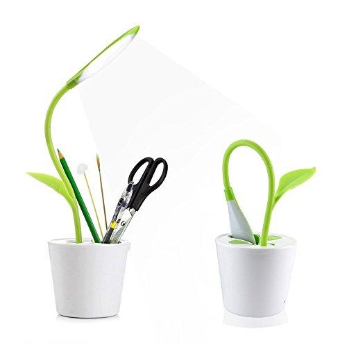 warmstor-desk-lamp-christmas-gift-fresh-green-plant-flexible-neck-table-lamp-pencil-holder-3-level-t