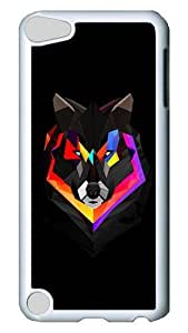 Diy Yourself iPod Touch 5 case cover, Techno Wolf PC Hard Plastic case cover for Apple MHgh09NxLh0 iPod Touch 5/ iPod 5th Generation White