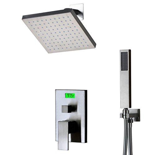 SUMERAIN S3123CD-B Pressure Balanced Shower System with Digital Temperature Display, Chrome
