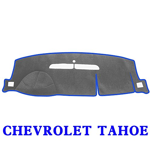JIAKANUO Auto Car Dashboard Dash Board Cover Mat Fit for Chevrolet Tahoe 2007-2013 (Gray-Blue) MR024