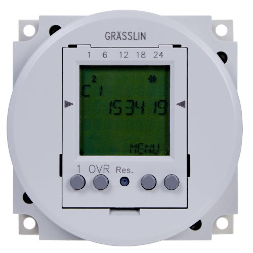 Grasslin by Intermatic FM1D50-12U 24-Hour/7-Day 12VDC Electronic Timer Module with Automatic Daylight Saving Time - Day Electronic Timer 7