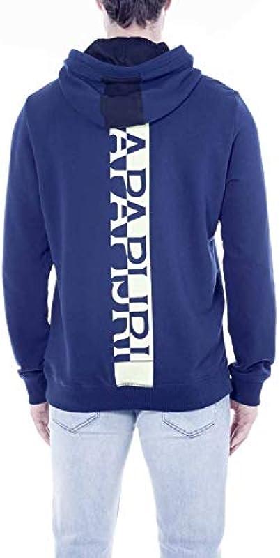 Napapijri BITO H - NP0A4EAN Sweater Męskie Medieval Blue M: Odzież