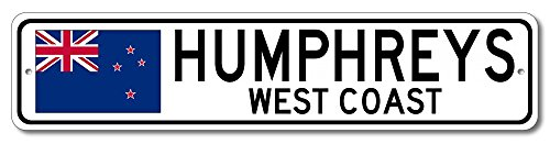 New Humphreys Corner - The Lizton Sign Shop Humphreys, West Coast Aluminum New Zealanders, Kiwi Flag Sign, New Zealand Custom Flag Sign - 9