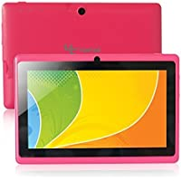 Yuntab Google Android 7 inch Tablet PC Wifi 8GB Ram Z88 Allwinner A33 Quad-core 2200mAh Dual Cameras Pad (Pink)