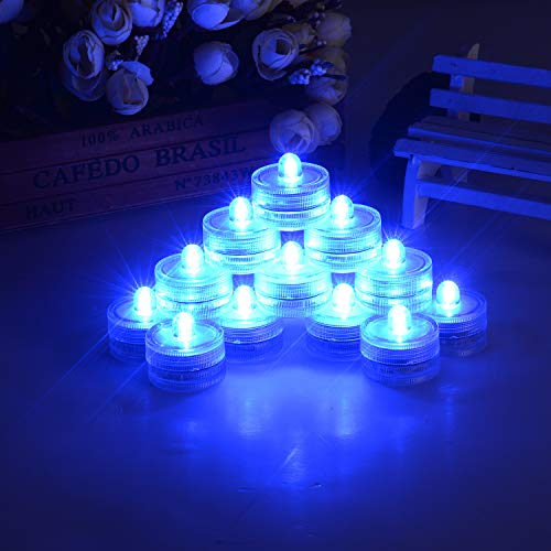 Blue Led Candle Lights in US - 9