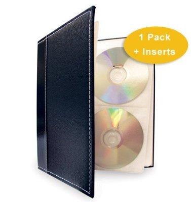 HandStands 11307GP Bellagio-Italia CD-DVD-Blu-Ray Binder Storage System- Black plus 1 Insert Pack